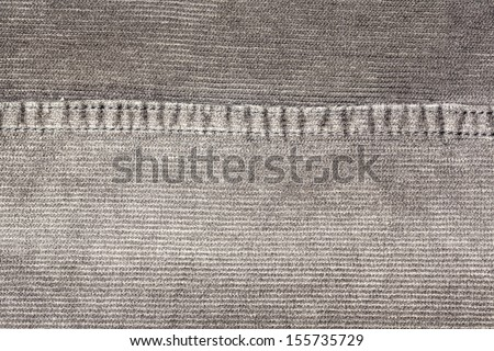texture of fabric material - corduroy from men's pants - stock photo