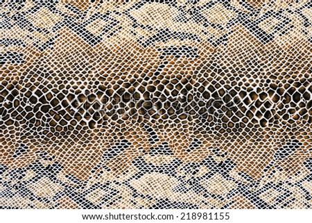 texture of fabric striped snake leather for background - stock photo