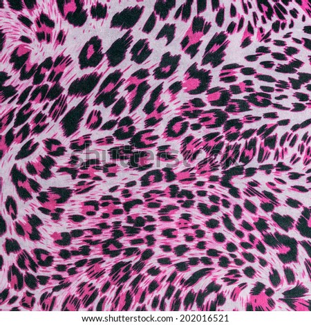 texture of fabric stripes leopard for background - stock photo