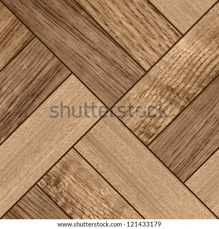Texture of fine dark brown parquet - stock photo