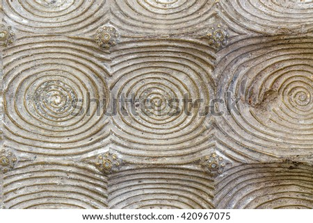 Texture of footprint of the Buddha - stock photo