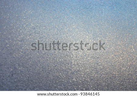 Texture of frosted glass. Abstract winter background. - stock photo