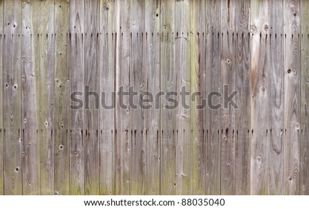 Texture of gray weathered wooden lining boards - stock photo