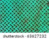 Texture of green metal plate - stock photo
