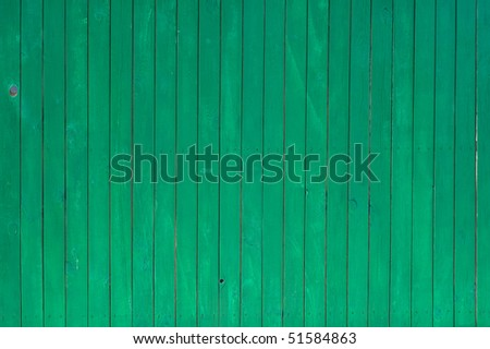 Texture of green painted wooden lining boards - stock photo