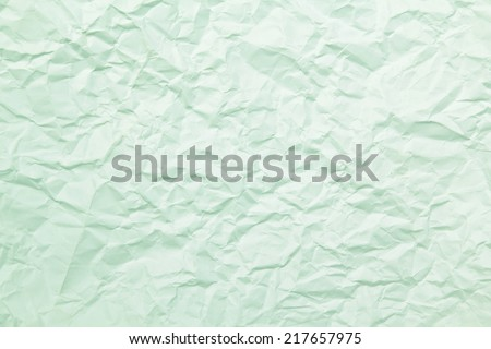 texture of green wrinkled paper - stock photo