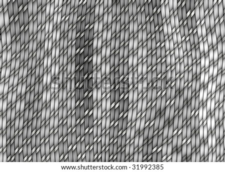 texture of grey knit-work threads in 3d - stock photo