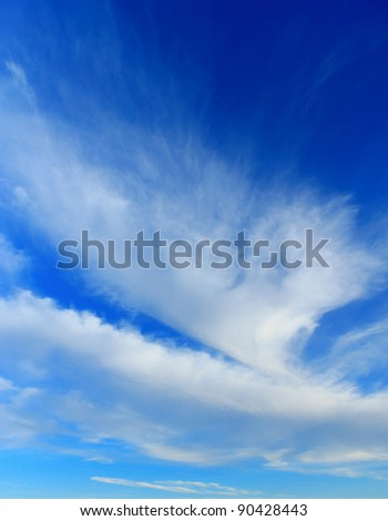 Texture of Heaven Clouds and Skies Background of Blue