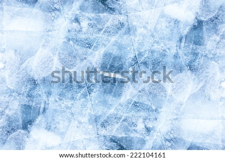 Texture of ice of Baikal lake in Siberia  - stock photo