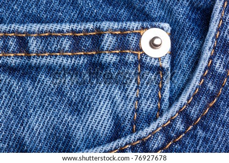 texture of jeans cloth - stock photo