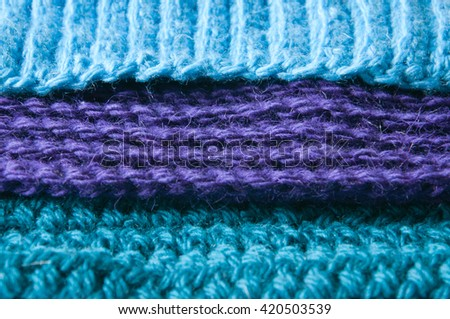 texture of knitted fabric - stock photo