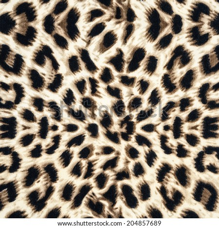 texture of leopard fabric for background - stock photo