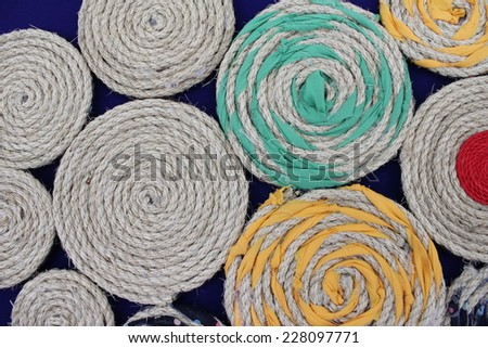texture of linen rope. - stock photo