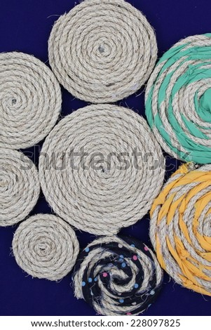 texture of linen rope.