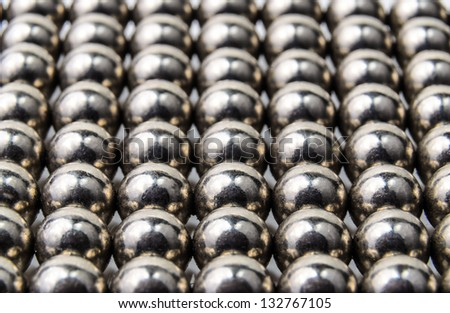 Texture of metal balls. Photo Close-up - stock photo