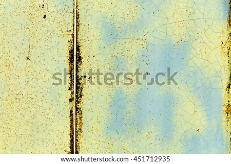 texture of metal sheet coated with peeling paint
