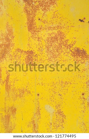 Texture of metal surface with cracked paint - stock photo