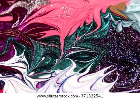 Texture of nail polish. Abstract bright background - stock photo
