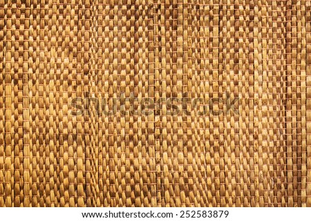 Texture of native thai style weave sedge mat background - made from papyrus - stock photo