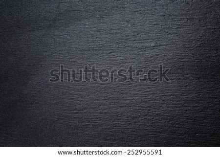 texture of natural black slate rock - stock photo