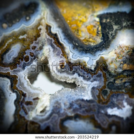 Texture of nature -  Jasper landscape agate close - up - stock photo