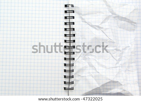 Texture of note pad. Element of design. - stock photo