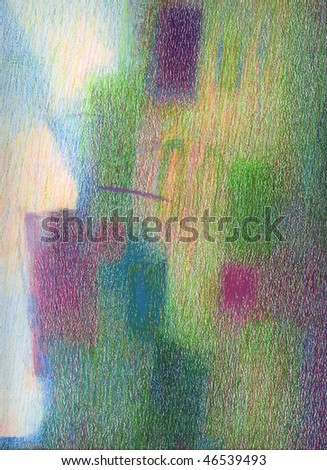 Texture of oil pastel painting