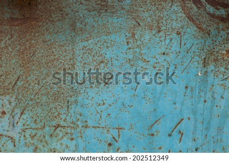 Texture of old blue metal - stock photo