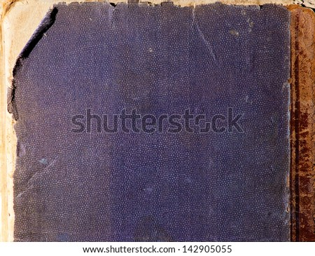 Texture of old book cover - stock photo