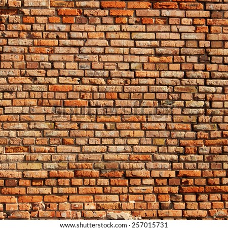 Texture of old brick wall  - stock photo