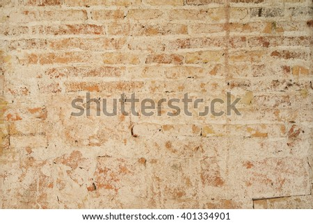 texture of old brickwork. brick background - stock photo