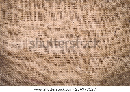 Texture of old crumpled burlap, Background - stock photo