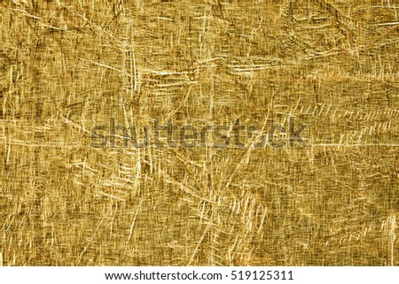texture of old crumpled gold foil