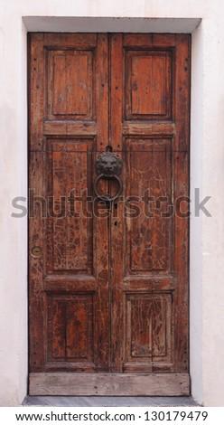 Texture of old door. - stock photo