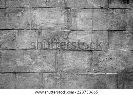 Texture of old gray cement wall close-up - stock photo