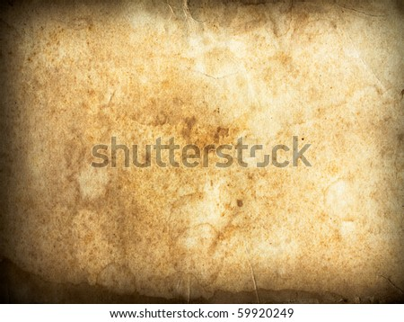 texture of old grunge paper horizontal - stock photo