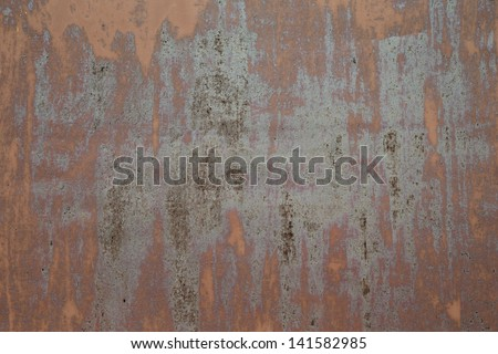 Texture of old grunge rust wall - stock photo