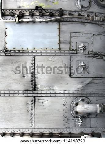 Texture of old metal - stock photo