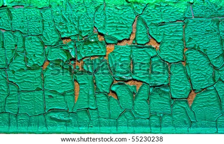 texture of old paint on wood and stone - stock photo