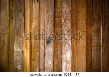 Texture of old plank wood wall for background - stock photo