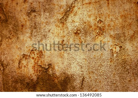 Texture of old rusty metal sheet,abstract background - stock photo