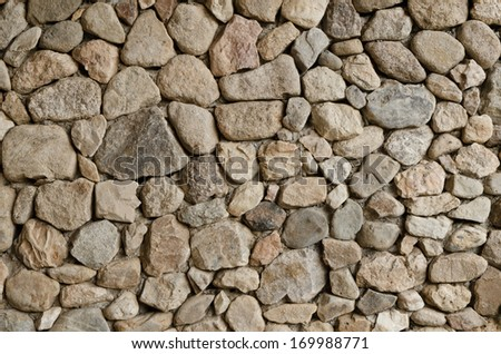 Texture of old stone wall for background - stock photo