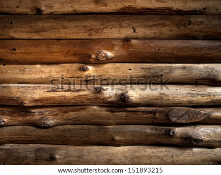 Texture of Old Timber Wood Wall for Web Page Background - stock photo