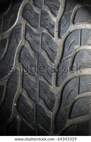 Texture of old tire for background - stock photo