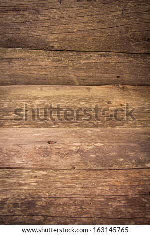 Texture of old wood panels - stock photo