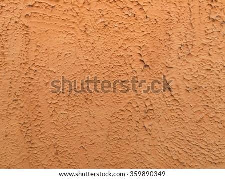 Texture of Orange concrete wall - stock photo