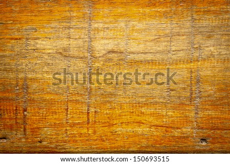 Texture of orange old wood and Scratch - stock photo