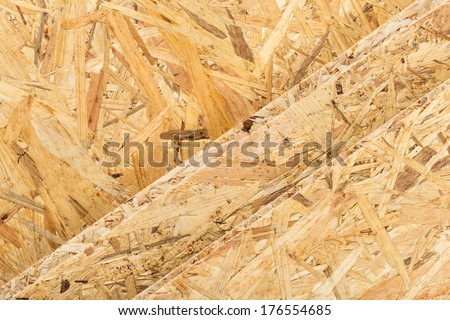 texture of osb boards - stock photo