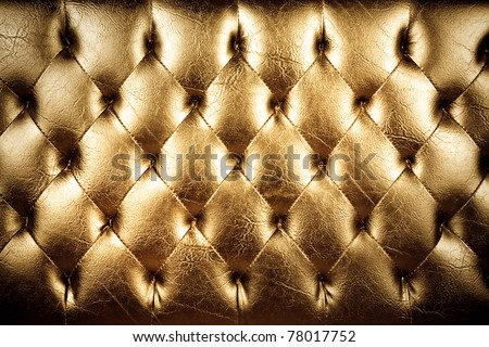 texture of padding, A gold texture of padding cushion. - stock photo