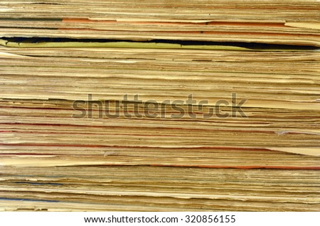 Texture of pages